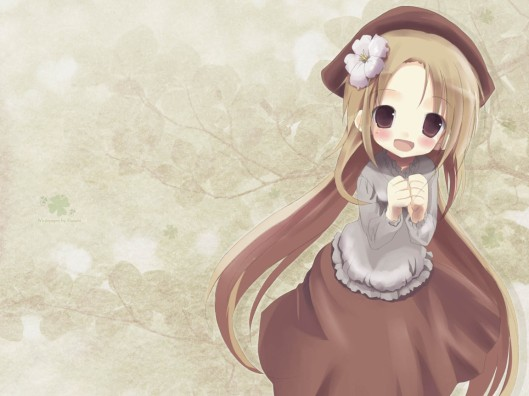 anime girl cute in brown